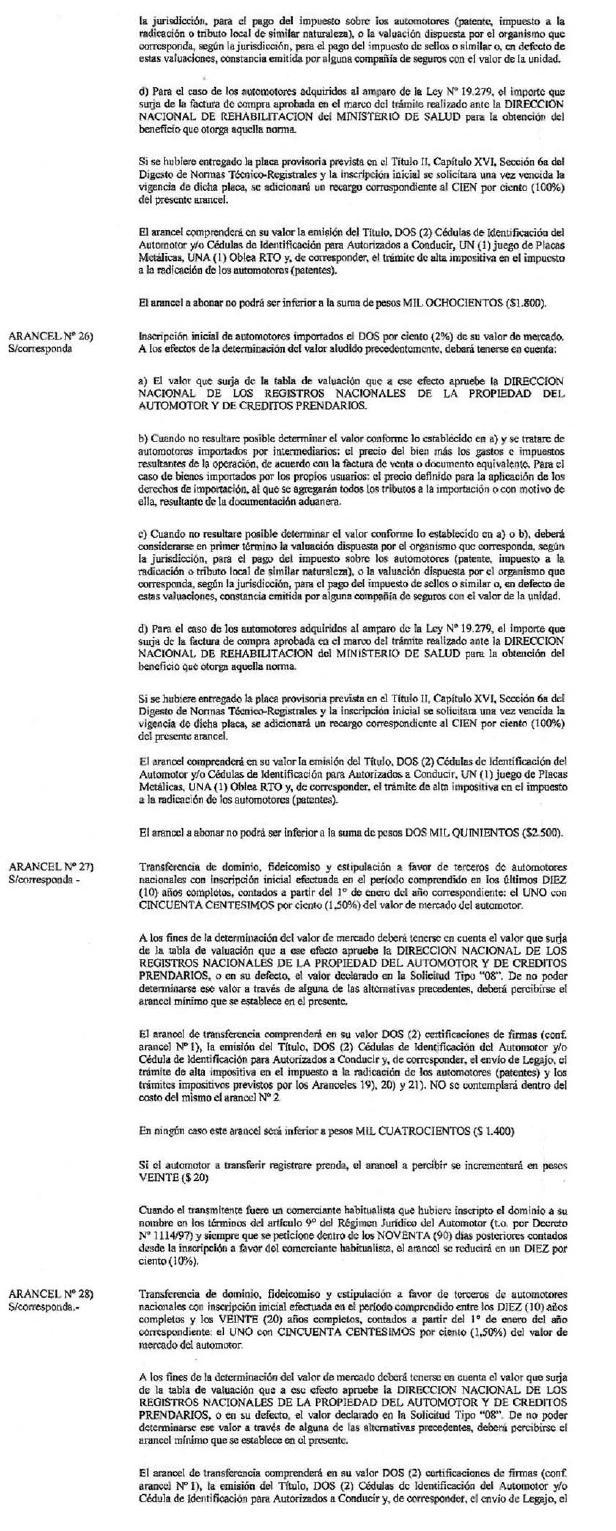 Infoleg Ministerio De Econom A Y Finanzas P Blicas Argentina # Registro Bienes Muebles Veh?culos