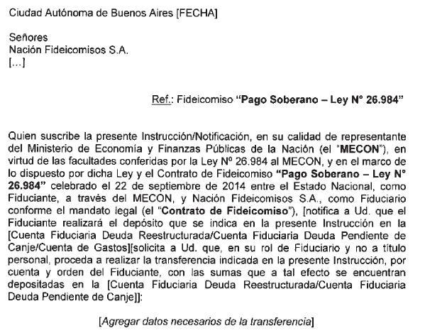 Infoleg ministerio de econom a y finanzas p blicas for Modelo acuerdo extrajudicial clausula suelo